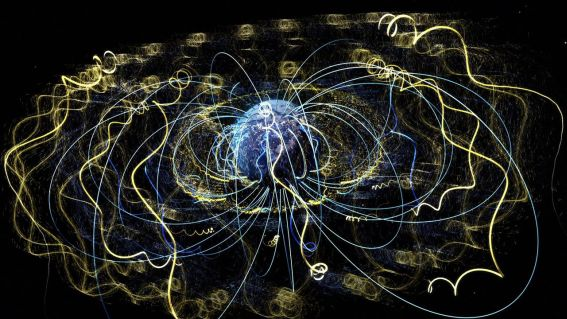 An artist's depiction of Earth's magnetism in action (NASA)