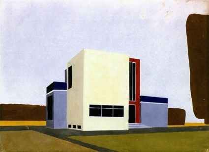 Farkas Molnár: Project for a single-family house, Bauhaus Weimar, 1922
